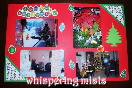 Xmas scrapbook page - small