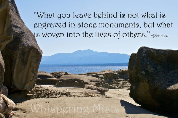 What you leave behind quote