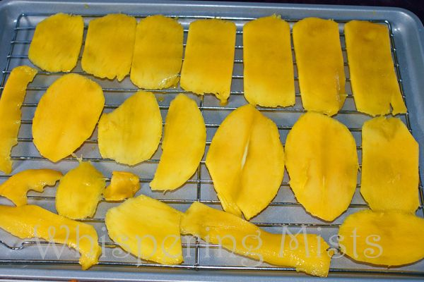 Mangos on cooling rack